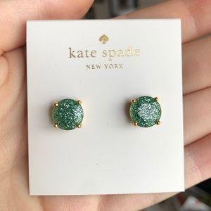 🎉HP🎉 Kate Spade Sparkly Green Stud Earrings
